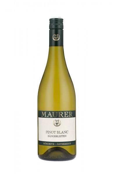 Sängerleiten Pinot Blanc trocken Maurer Wein Österreich
