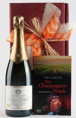 Weinpräsent Champagner & Weinkrimi von Paul Grote versandkostenf