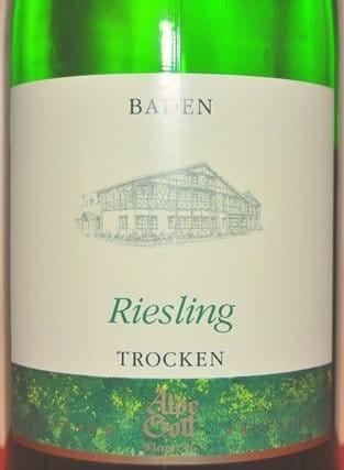 Alde Gott Riesling QbA trocken 2013 Liter Baden