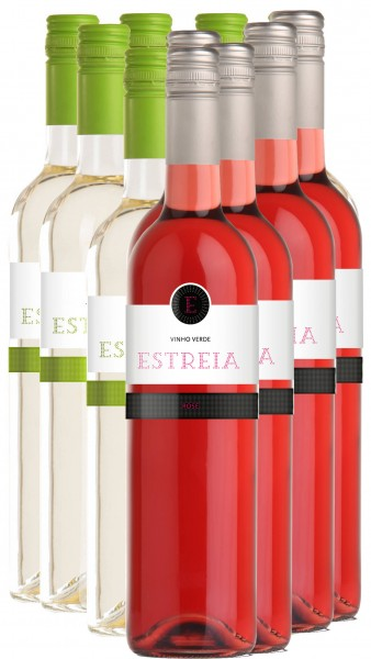 Vinho Verde Rosé und Branco Estreia Viniverde 12er Angebot