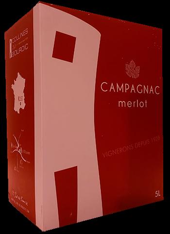 Bourdic Bag in Box Merlot Campagnac Rouge