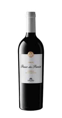 Fazio Merlot Rosso Rotwein trocken Sizilien Italien Die Bodega o