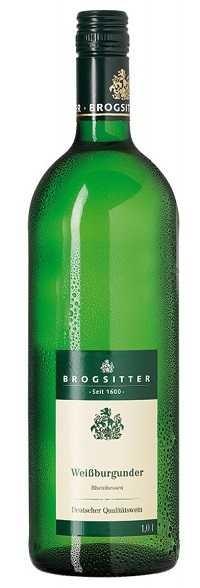 Brogsitter Weißburgunder mild Rheinhessen 1,0 l