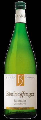 Bischoffinger Ruländer mild Liter QbA Kaiserstuhl 2014 Baden