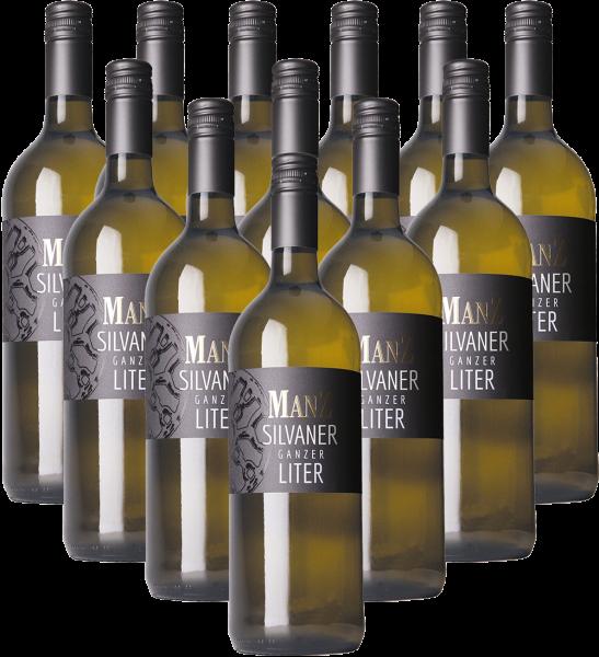 Manz Silvaner feinherb Ganzer Liter Rheinhessen 12er Angebot