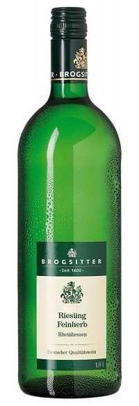 Brogsitter Riesling feinherb QbA Rheinhessen 1,0 l