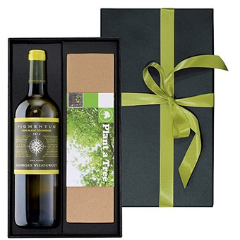 Weinpräsent Bordeaux Blanc mit Buchenbaum versandkostenfrei