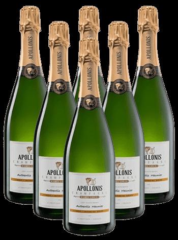 Michel Loriot Apollonis Champagner Meunier Brut 6er Angebot