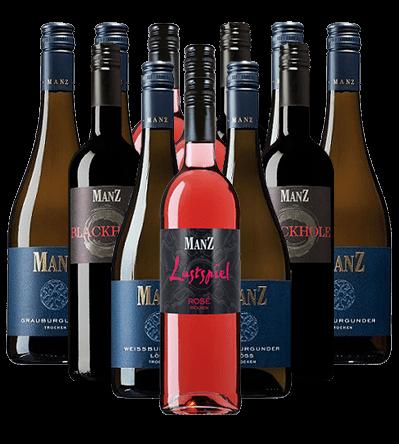 Manz Rot Weiß Rosé Weinpaket trocken 12er Angebot