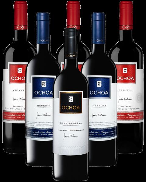 Ochoa Rotwein BArrique Probierpaket Spanien 6er Angebot