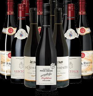 Cotes du Rhone Probierpaket Rotwein Frankreich 12er Angebot