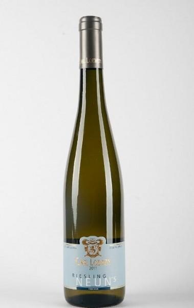 Neun 5 Riesling Wein trocken Carl Loewen Mosel