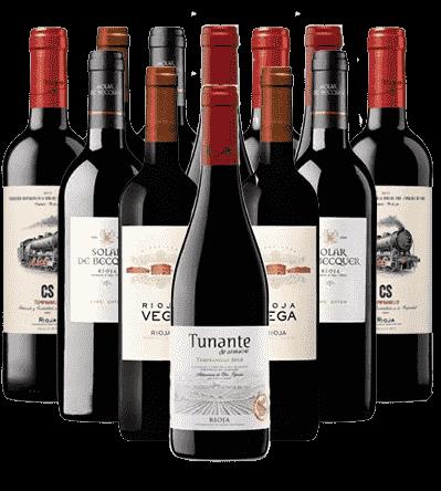 Rioja Rotweine Probierpaket 12er Angebot Spanien