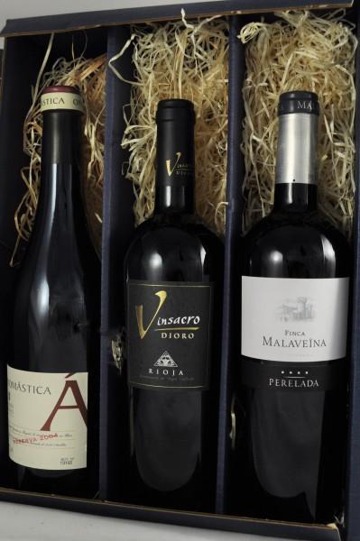 Spanische Edel Rotweine 3er Weinpaket Gratis Versand