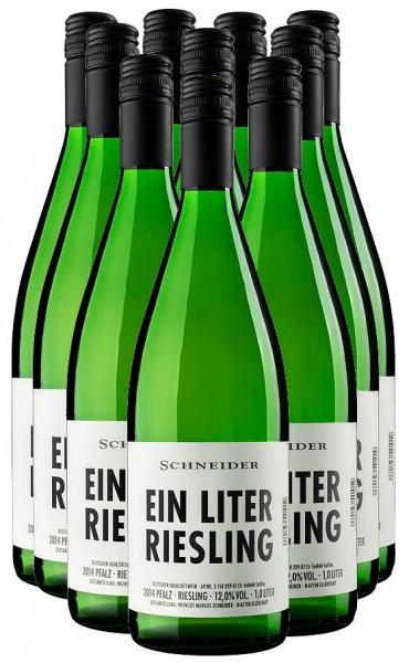Markus Schneider Ein Liter Riesling trocken Pfalz 12er Angebot