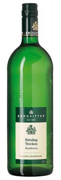 Brogsitter Riesling trocken QbA Rheinhessen 1,0 l
