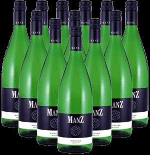 Manz Riesling trocken Liter Rheinhessen 12er Angebot