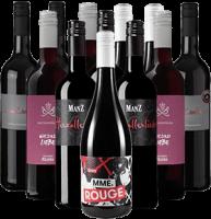 Rotwein Freunde Probierpaket Deutschland 12er Angebot